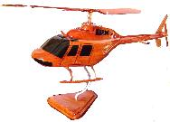Wooden Helocopter bell 206