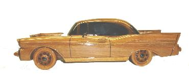 desktop wood 57 chevy, mahogany  57 chevy model,  mahogany model car wood model car, wooden model car
