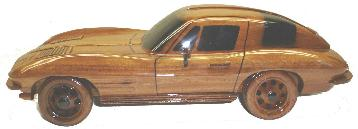 63 stingray model car, Wooden model car, Mahogany 63 stingray, wooden stingray vet desktop model