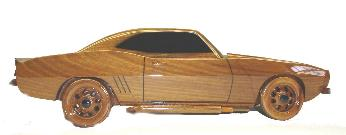 mahogany camero desktop model, mahogany model, Wood model car, wooden car model,