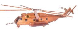 Ch-53 Stallion wood wooden helicopre model