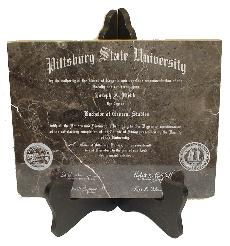 Laser Engraved Marble Diplomas