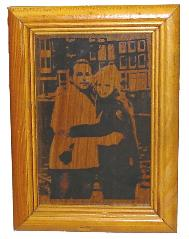 Laser Engraved wood Photographs