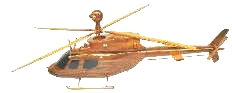 wooden  helicopter, Oh58 Kiowa wooden  helicopter model