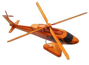 S-76 wood wooden helicopter model