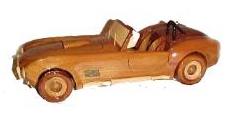 desktop model Wood model car