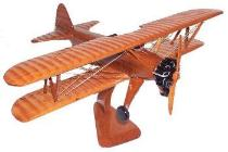 Steraman mahogany airplane model