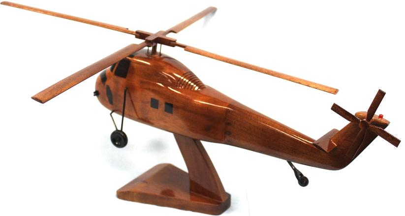 Ch-34 Choctaw Helicopter Model Wood