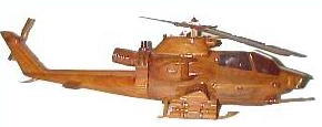wooden model helicopter,  ah1 cobra wooden model helicopter