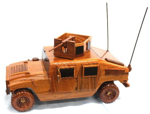 HMMWV Model made of Mahogany wood