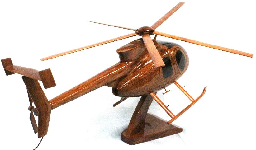 Wooden Hughes MD 530  helicopter model