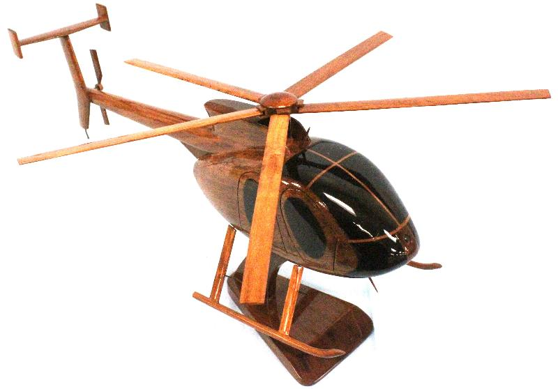Hughes MD 530 wood helicopter model