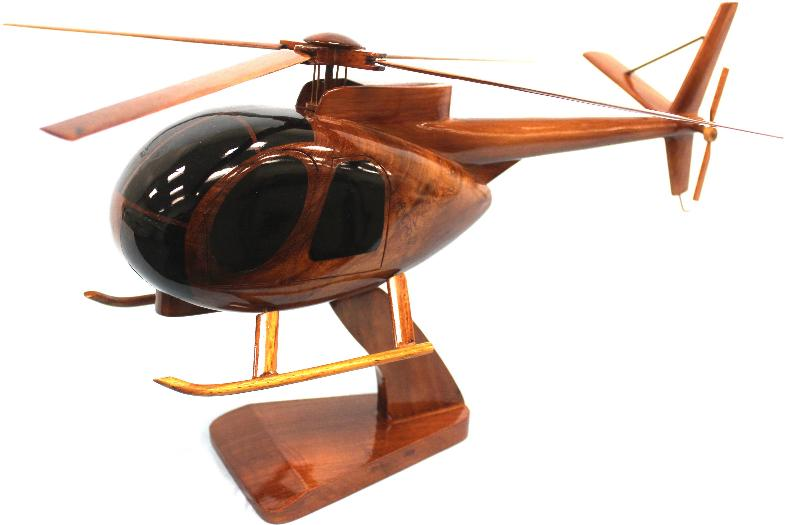 Wood Oh-6 Cayuse model helicopter