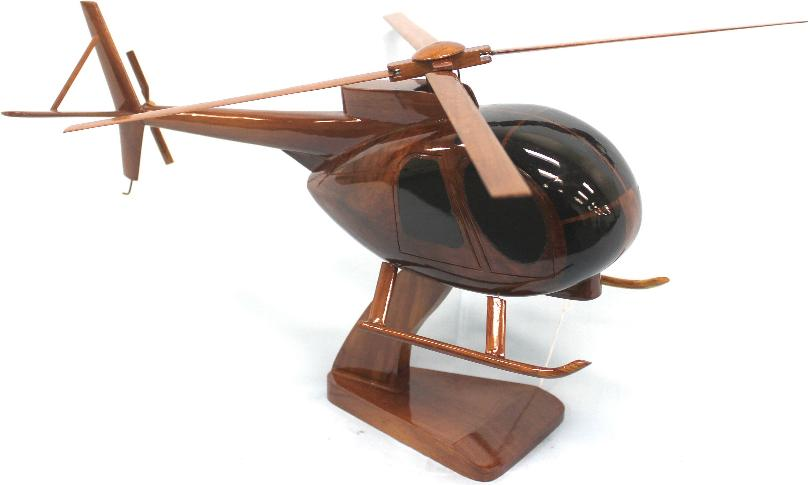 Oh6 Cayuse wood helicopter model