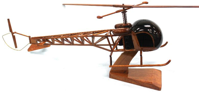 Wood Oh13 Siuox helicopter model