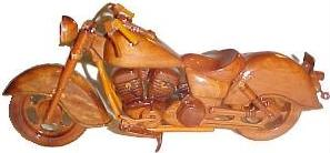 Mahogany Model motorcycle