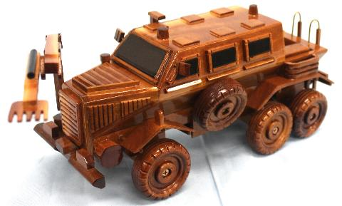 MRAP Bison Model, MRAP Cougar  Mahogany Wood Mode
