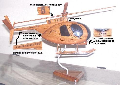 OH-6 Cayuse Wood Desktop Helicopter Model  Wooden Helicopters  Wood helicopter models Mahogany Helicopter