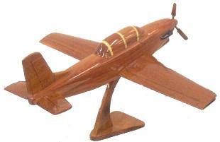 T-34 wood, wooden mahogany desktop model airplane aircraft plane airplanes planes