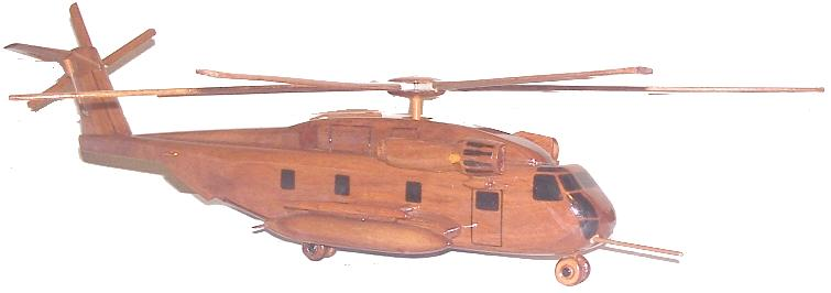 CH-53 Stallion Desktop Helicopter model  Mahogany Wood model helicoopters, Wooden model helicopter