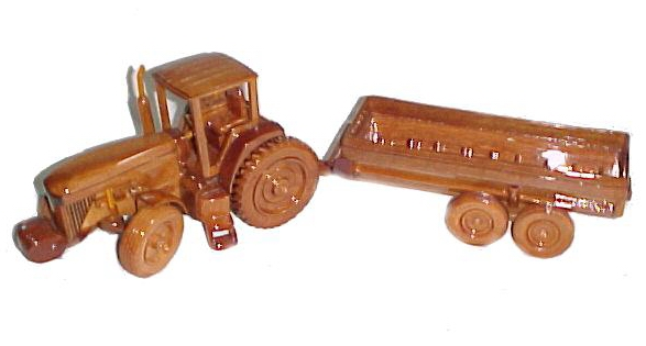 wooden model tractor, Mahogany model tractor,