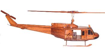 UH-1  H Huey  Bell 405 wooden helicopter model