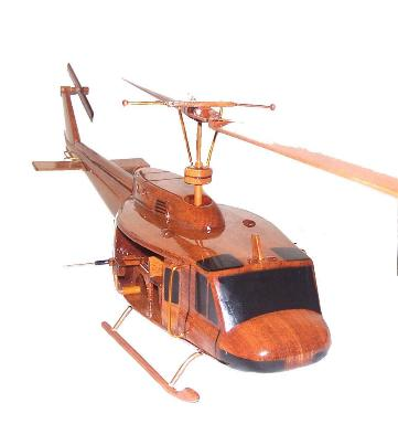 UH-1 D H Huey Bell 405 wooden helicopter model